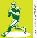 Quarterback Illustration - stock vector