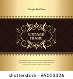 Vintage Golden background - stock vector