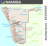Map of Namibia - stock vector