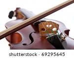 Close up on a violin isolated XXL - stock photo