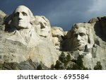 Mt. Rushmore, USA - stock photo