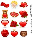 Vector illustration - valentine's day icon set - stock vector