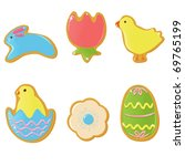 Vector Easter cookies - stock vector