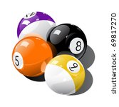 Pool balls - stock vector