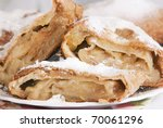 apple pie (vienna strudel) - stock photo