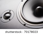 Audio speaker. The musical equipment. Close-up - stock photo