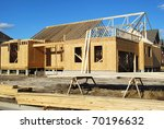 a new home under construction - stock photo