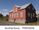 Old House in Hrisey Iceland - stock photo