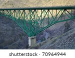 Historic Pioneer Bridge over the Shasta River - stock photo