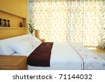 Modern Spacious Bedroom - stock photo