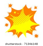 Abstract color star burst, vector illustration - stock vector