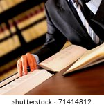 Attorney reading - stock photo