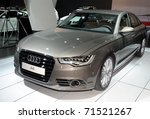 TORONTO-FEBRUARY 17: The new Audi A6 showcased at the 2011 Canadian International Auto Show on February 17, 2011 in Toronto - stock photo