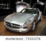 TORONTO-FEBRUARY 17:Mercedes Benz SLS AMG showed at the 2011 Canadian International Auto Show on February 17, 2011 in Toronto - stock photo