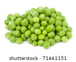 fresh green peas isolated on a white background. Studio photo - stock photo