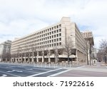 FBI building in Washington DC USA. This building was erected in 1908 - stock photo