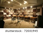 sound recording studio - stock photo