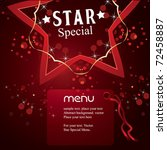 Vector Star  Special Menu - stock vector
