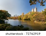 Autumn at Central Park , Manhattan. - stock photo