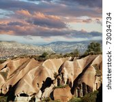 Cappadocia in Turkey - stock photo