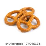 Salted pretzels - stock photo