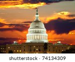 United States Capitol Building in Washington DC - stock photo