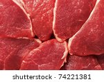 Piece of fresh raw meat background - stock photo