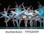 DNEPROPETROVSK, UKRAINE - APRIL 23: 'Swan Lake' ballet performed by Dnepropetrovsk Opera and Ballet Theatre ballet on April 23, 2011 in Dnepropetrovsk, Ukraine. - stock photo