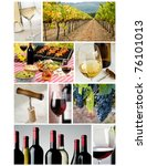 8.5 x11 collage made up of wine related images - stock photo