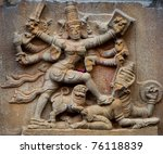Hindu God Statue in tanjavur, Tamil Nadu, India - stock photo