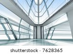 Architecture concept 3d render - stock photo