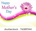abstract mother's day background vector illustration - stock vector