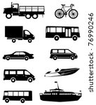 Transport Icons collection - stock vector