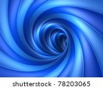 Blue Vortex - stock photo