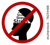 no stress - stock vector