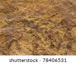 nice closeup of rich orange rusty colored rock, found at the coast, northern california - stock photo
