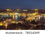 Evening Istanbul - stock photo