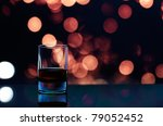 The whisky glass close up. - stock photo