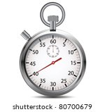 Stopwatch. Vector - stock vector