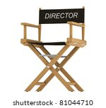 Action: directors chair isolated over white background - stock photo