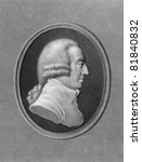 Adam Smith (1723-1790). Engraved by W.Holl and published in The Gallery of Portraits with Memoirs encyclopedia, United Kingdom, 1837. - stock photo