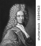 Daniel Defoe (1659-1731). Engraved by J.Thomson and published in The Gallery of Portraits encyclopedia, United Kingdom, 1834. - stock photo