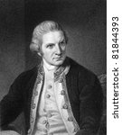 Captain Cook (1728-1779). Engraved by E.Scriven and published in The Gallery Of Portraits With Memoirs encyclopedia, United Kingdom, 1837. - stock photo