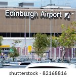 EDINBURGH - JUNE 29: the exterior of Edinburgh Airport on June 29, 2011 in Edinburgh, Scotland. On June 28th passengers were stuck on planes for hours at the Airport due to a security alert. - stock photo