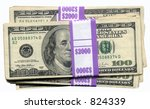 A tidy sum of money - stock photo