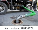 Fuel Delivery Tanker - stock photo