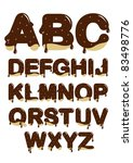 chocolate font - stock vector