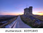 Cabot Tower in St. John's. - stock photo