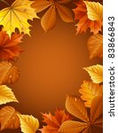 Vector illustration - autumn leaves background - stock vector