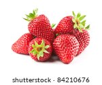 fresh strawberry on the clean isolated background - stock photo